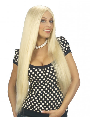 Perruque blonde avec cheveux long femme