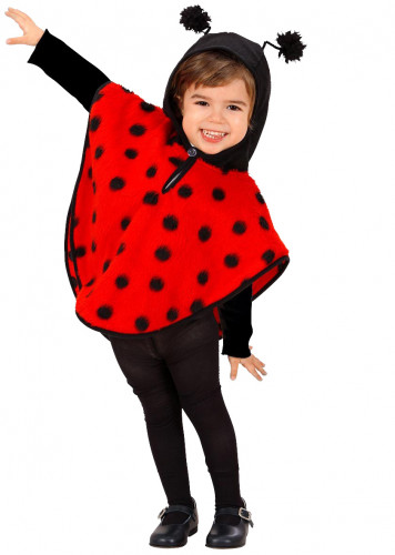 Poncho coccinelle fille