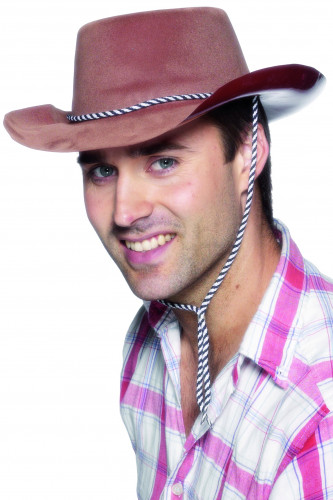 Chapeau cowboy marron homme