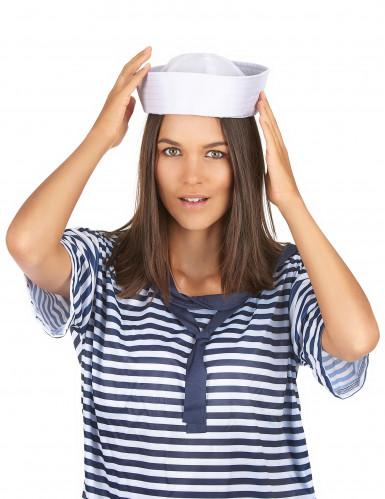 Chapeau marin blanc adulte-2