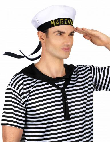 Chapeau marin ruban noir adulte-1