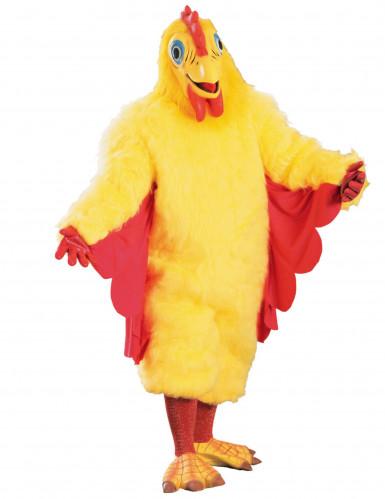 Déguisement mascotte poulet jaune adulte