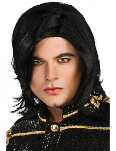 Perruque lisse Michael Jackson™ homme
