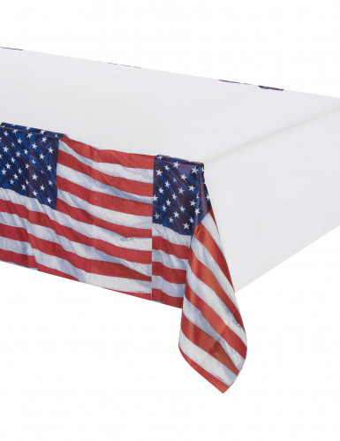 Nappe en plastique drapeau USA 137 x 259 cm