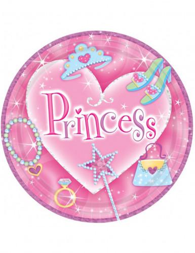 8 Assiettes en carton Princess