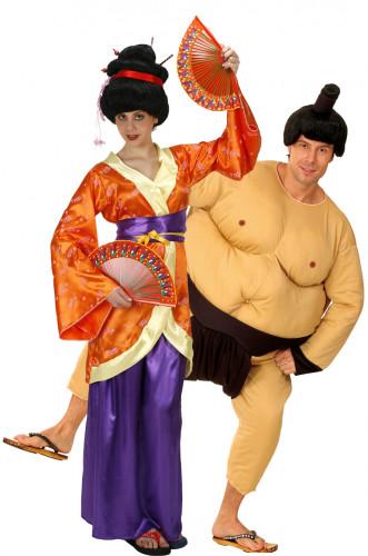 Déguisement couple geisha et sumo