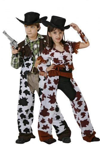 Déguisement couple cowgirl et cowboy enfants