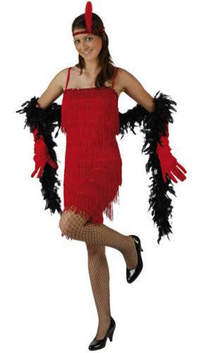 Deguisement rouge charleston femme