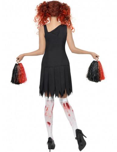 Déguisement zombie pom-pom girl femme Halloween-1