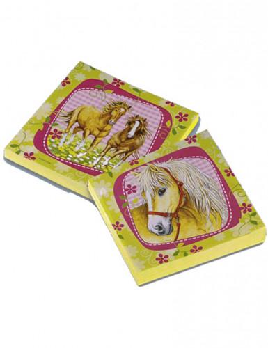 20 Serviettes en papier Chevaux 33 x 33 cm