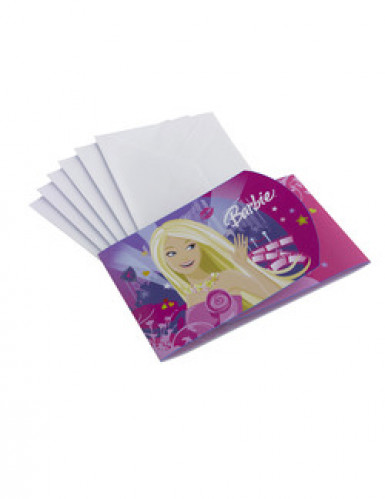 6 Cartons d\'invitations Barbie™