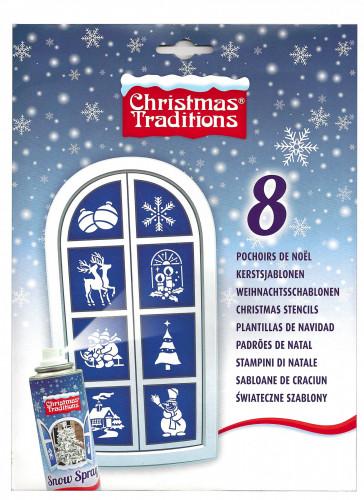 8 Pochoirs Noël
