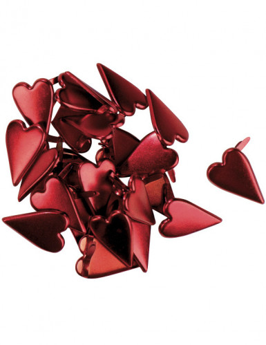 Attaches parisiennes coeurs rouges