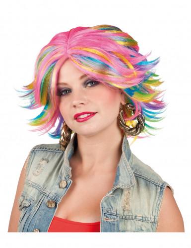 Perruque multicolore femme