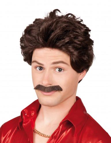 Perruque avec moustache homme