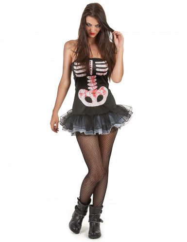 Déguisement squelette sexy adulte Halloween pour femme