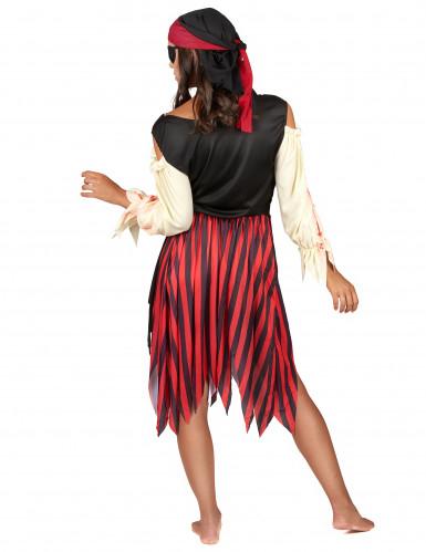 Déguisement pirate zombie adulte Halloween pour femme-2
