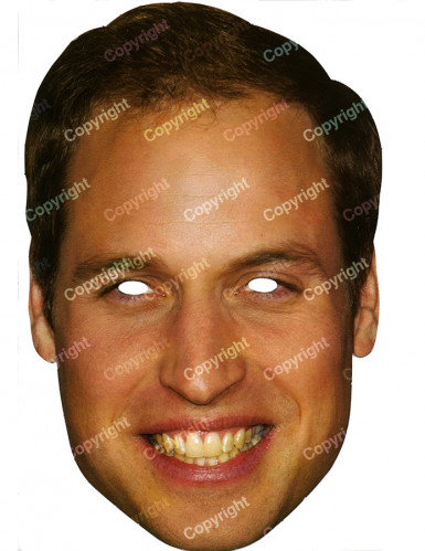 Masque carton Prince William
