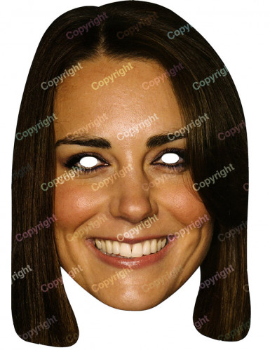 Masque carton Kate Middleton