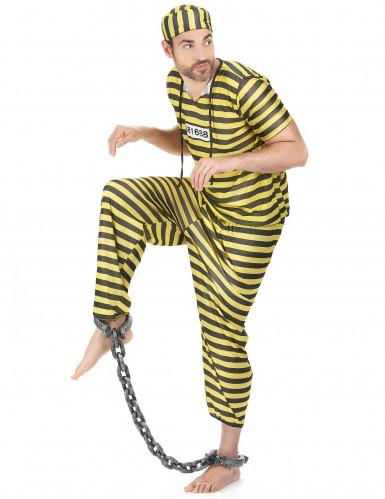 Déguisement prisonnier jaune homme-1