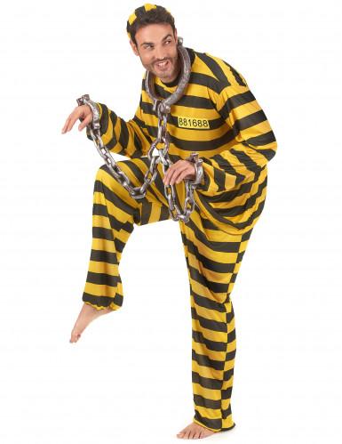 Déguisement prisonnier jaune adulte-1