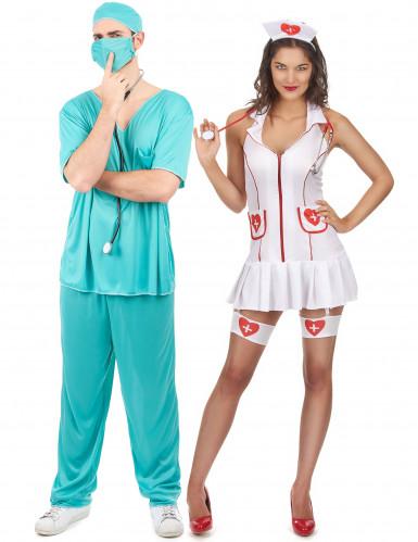 Déguisement couple infirmière et docteur
