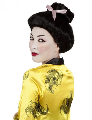 Perruque geisha noire femme
