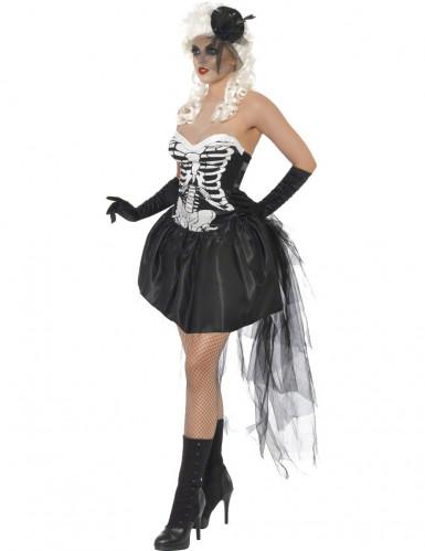 Déguisement squelette gothique femme Halloween-1