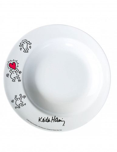 Assiette creuse mélamine Keith Haring™