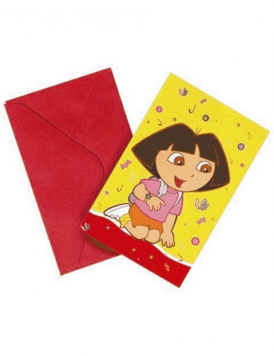 6 cartes d'invitation Dora l'Exploratrice™