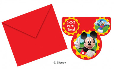 6 cartes d'invitation Mickey Clubhouse™