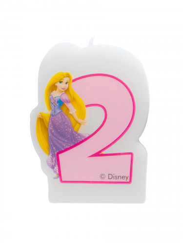 Bougie chiffre 2 Disney Princesses Journey™