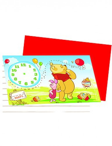 6 cartes d'invitation Winnie l'Ourson™