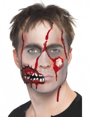 Kit maquillage zombie adulte Halloween-3