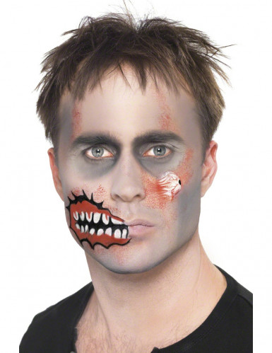 Kit maquillage zombie adulte Halloween-2