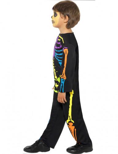 Déguisement squelette coloré garçon Halloween-2