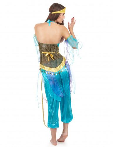 Déguisement danseuse arabe bleu adulte-2