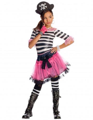 Déguisement Pirate gothique Noir Rose enfant pour fille