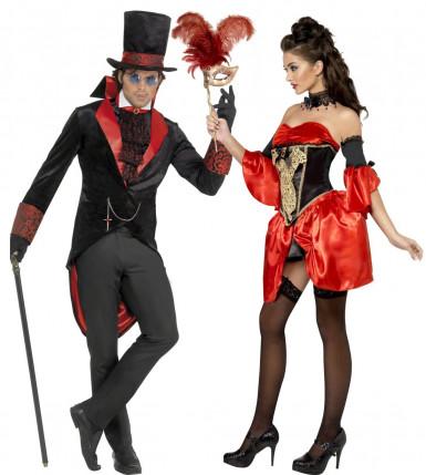 Costume couple  vampire baroque Halloween