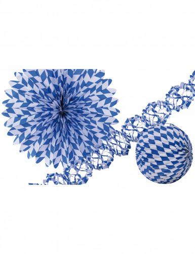 Set de décoration bleu et blanc