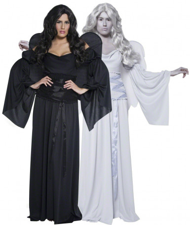 Costume couple anges Halloween