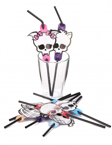 Pailles flexibles Monster High™ Halloween-1