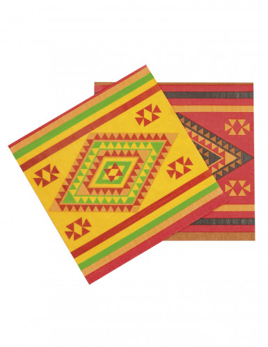 12 Serviettes en papier Mexicaines 33 x 33 cm