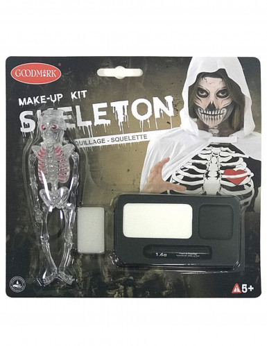 Kit maquillage squelette Halloween