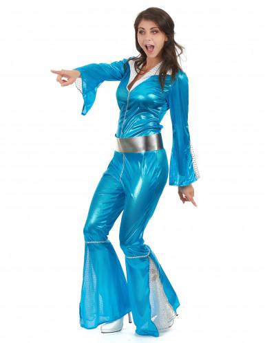 Déguisement disco bleu femme-1
