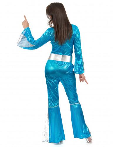Déguisement disco bleu femme-2
