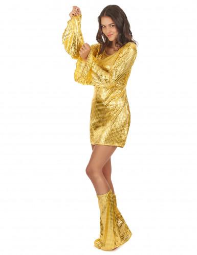 Déguisment disco doré femme-1