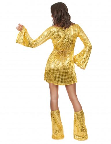 Déguisment disco doré femme-2
