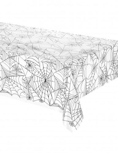 Nappe plastique toile d'araignée Halloween