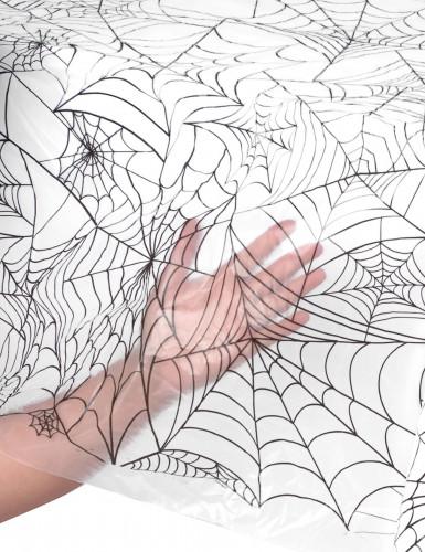 Nappe plastique toile d'araignée Halloween-1